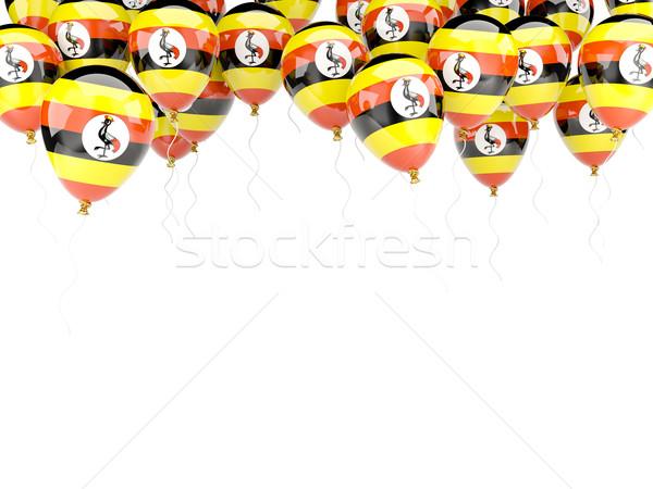 Pallone frame bandiera Uganda isolato bianco Foto d'archivio © MikhailMishchenko
