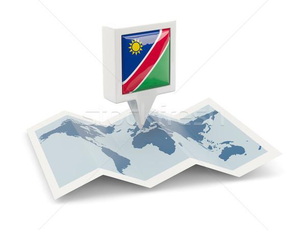 Tér tő zászló Namíbia térkép utazás Stock fotó © MikhailMishchenko