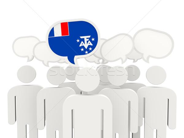 Emberek zászló francia déli izolált fehér Stock fotó © MikhailMishchenko