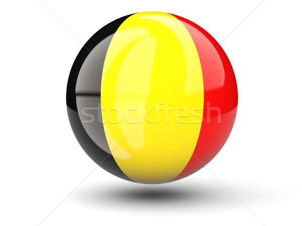 ícone bandeira Bélgica isolado branco viajar Foto stock © MikhailMishchenko