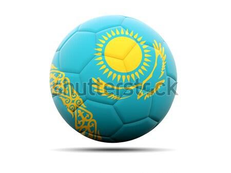 икона флаг Казахстан изолированный белый путешествия Сток-фото © MikhailMishchenko