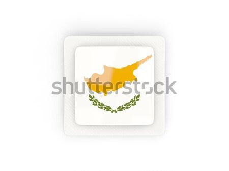 квадратный икона флаг Кипр металл кадр Сток-фото © MikhailMishchenko