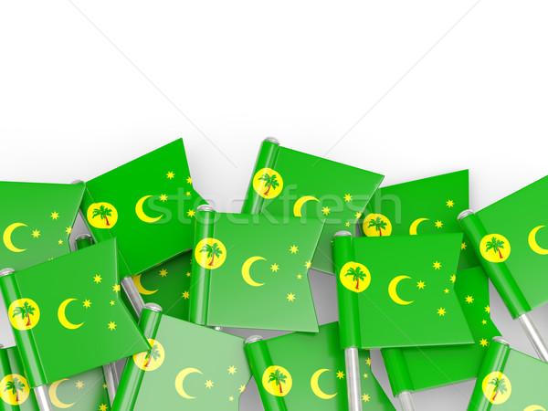 Flag pin of cocos islands Stock photo © MikhailMishchenko