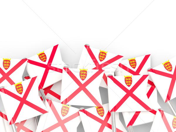Flag pin of jersey Stock photo © MikhailMishchenko