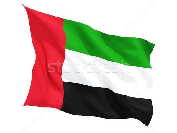 Integet zászló Egyesült Arab Emírségek izolált fehér Stock fotó © MikhailMishchenko