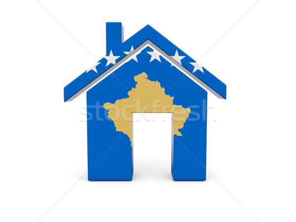 Home with flag of kosovo Stock photo © MikhailMishchenko