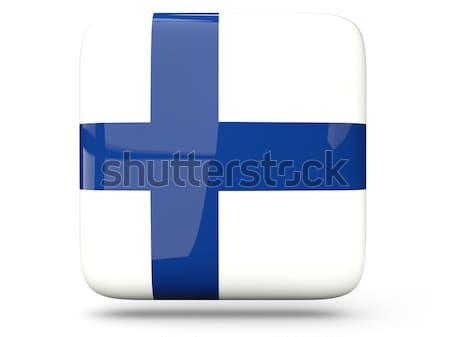 Bandera etiqueta Finlandia aislado blanco signo Foto stock © MikhailMishchenko