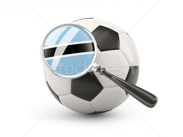 Futball nagyított zászló Botswana izolált fehér Stock fotó © MikhailMishchenko