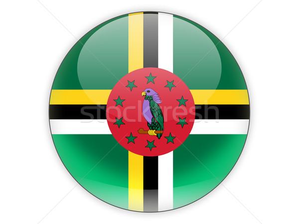 икона флаг Доминика изолированный белый путешествия Сток-фото © MikhailMishchenko
