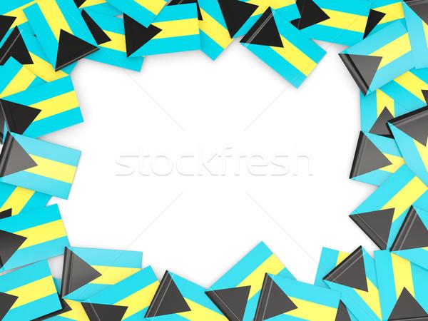 Quadro bandeira Bahamas isolado branco Foto stock © MikhailMishchenko