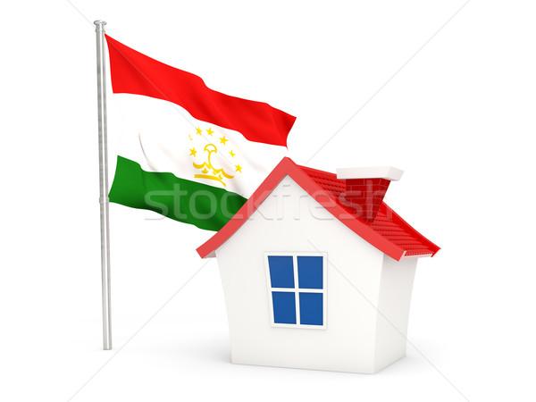 House with flag of tajikistan Stock photo © MikhailMishchenko
