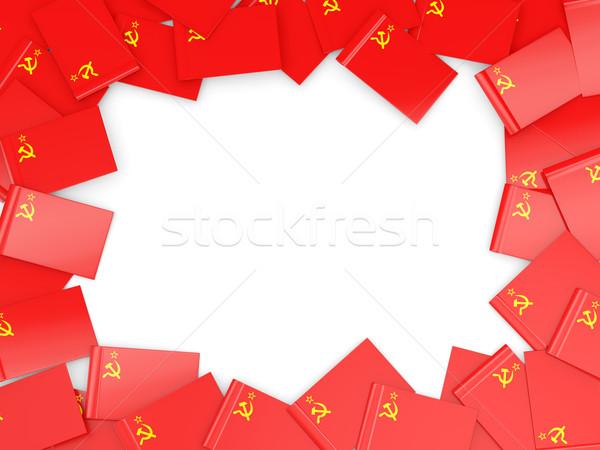 Frame with flag of ussr Stock photo © MikhailMishchenko