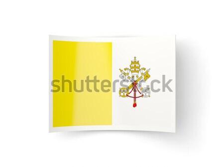 Tér ikon zászló Vatikán fém keret Stock fotó © MikhailMishchenko