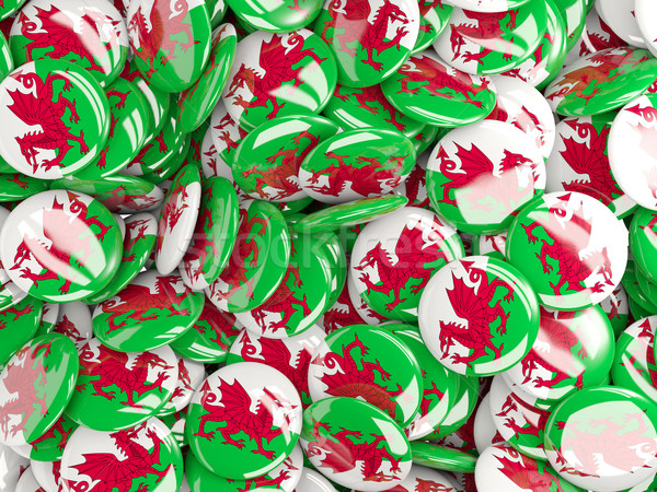 Background with round pins with flag of wales Stock photo © MikhailMishchenko