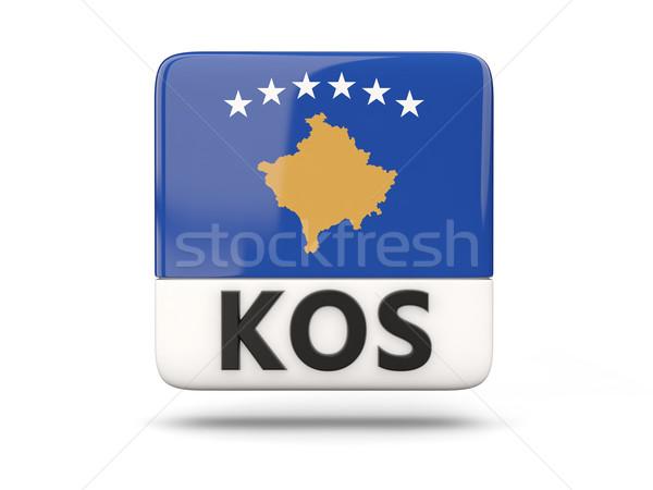 Square icon with flag of kosovo Stock photo © MikhailMishchenko