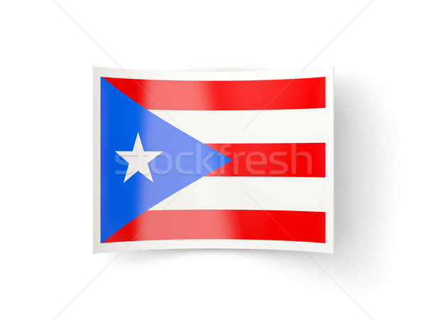 Icon vlag Puerto Rico geïsoleerd witte land Stockfoto © MikhailMishchenko