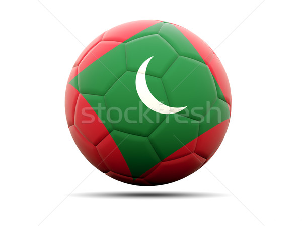 Football with flag of maldives Stock photo © MikhailMishchenko