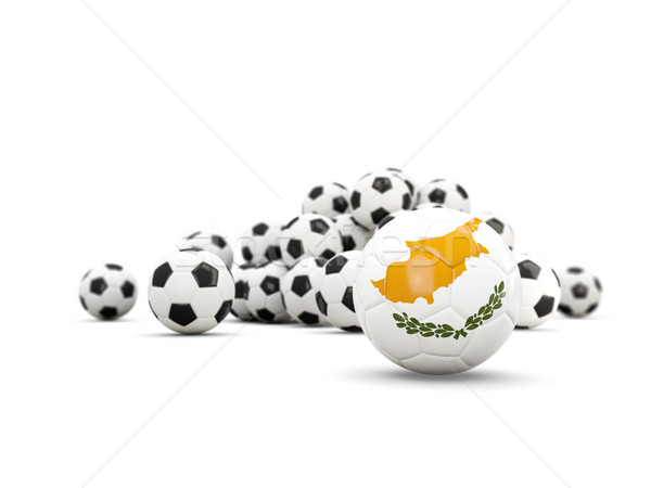 Football pavillon isolé blanche 3d illustration sport Photo stock © MikhailMishchenko