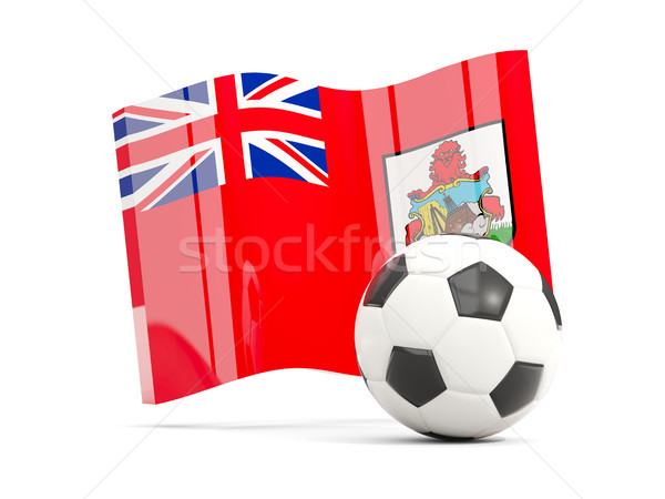 Football with waving flag of bermuda isolated on white Stock photo © MikhailMishchenko