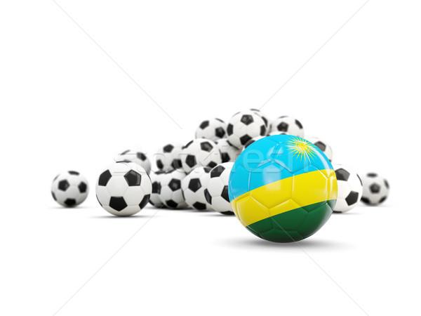 Football pavillon isolé blanche 3d illustration sport Photo stock © MikhailMishchenko