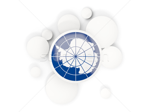 Round flag of antarctica with circles pattern Stock photo © MikhailMishchenko
