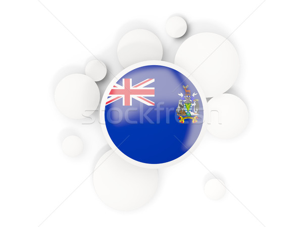 Round flag of south georgia and the south sandwich islands with  Stock photo © MikhailMishchenko