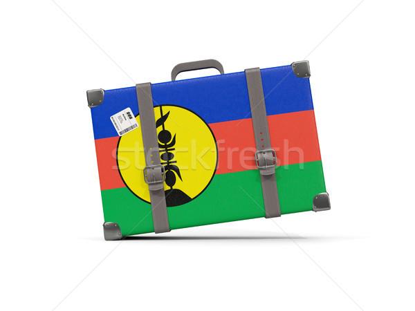 Bagaj bayrak yeni bavul yalıtılmış beyaz Stok fotoğraf © MikhailMishchenko