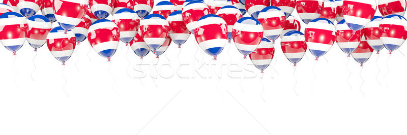 Léggömbök keret zászló Costa Rica izolált fehér Stock fotó © MikhailMishchenko
