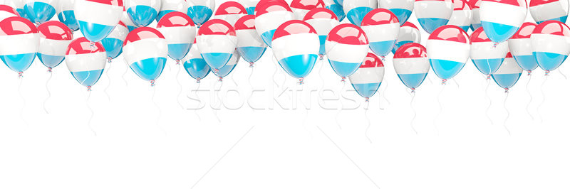Balloons frame with flag of luxembourg Stock photo © MikhailMishchenko
