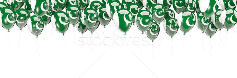 Balonlar çerçeve bayrak Pakistan yalıtılmış beyaz Stok fotoğraf © MikhailMishchenko