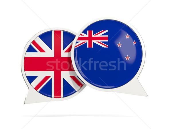 Conversar bubbles Nova Zelândia isolado branco ilustração 3d Foto stock © MikhailMishchenko