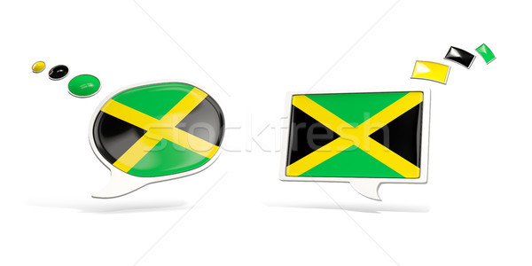 Two chat icons with flag of jamaica Stock photo © MikhailMishchenko