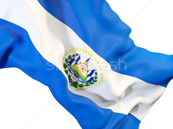 Waving flag of el salvador Stock photo © MikhailMishchenko