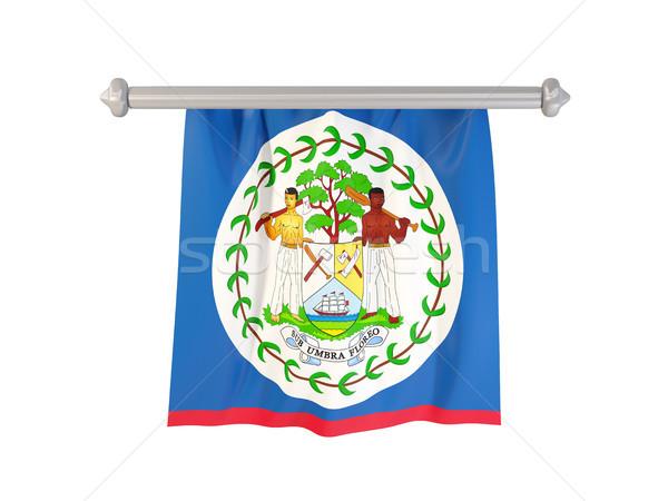 Stock fotó: Zászló · Belize · izolált · fehér · 3d · illusztráció · címke
