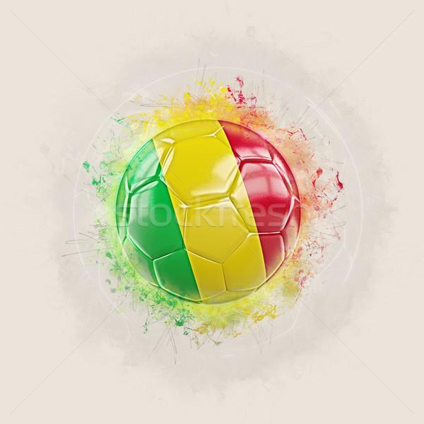 Grunge football with flag of mali Stock photo © MikhailMishchenko