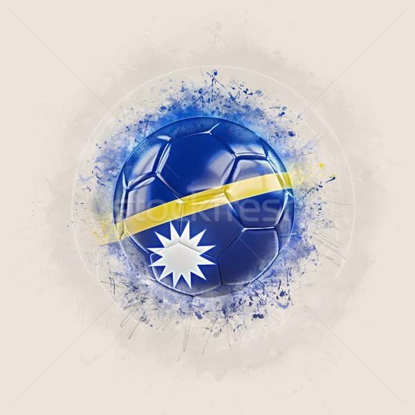 Grunge fútbol bandera Nauru 3d mundo Foto stock © MikhailMishchenko