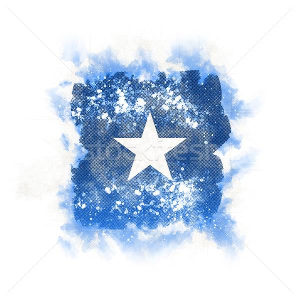 Placu grunge banderą Somali 3d ilustracji retro Zdjęcia stock © MikhailMishchenko
