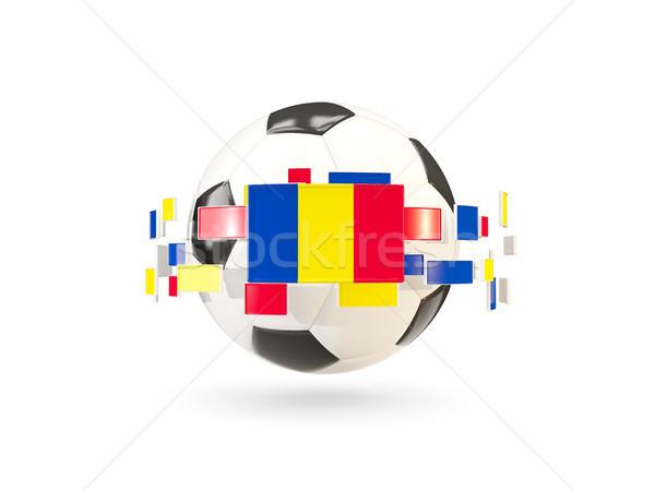 Voetbal lijn vlaggen vlag Roemenië Stockfoto © MikhailMishchenko