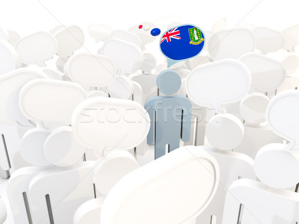 человека флаг Виргинские о-ва британский толпа 3d иллюстрации Сток-фото © MikhailMishchenko
