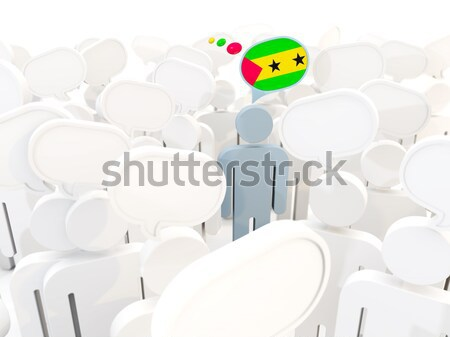 Man with flag of virgin islands us in a crowd Stock photo © MikhailMishchenko