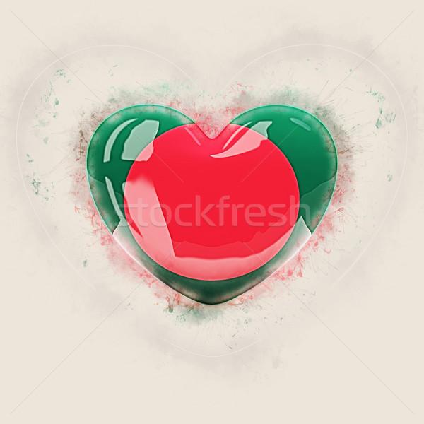 Coração bandeira Bangladesh grunge ilustração 3d viajar Foto stock © MikhailMishchenko