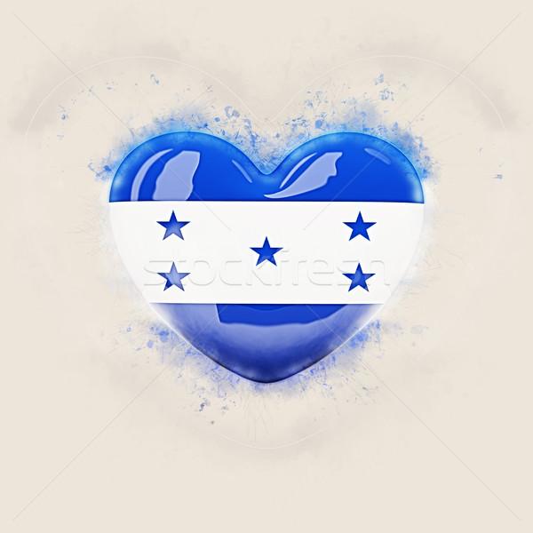 Coração bandeira Honduras grunge ilustração 3d viajar Foto stock © MikhailMishchenko