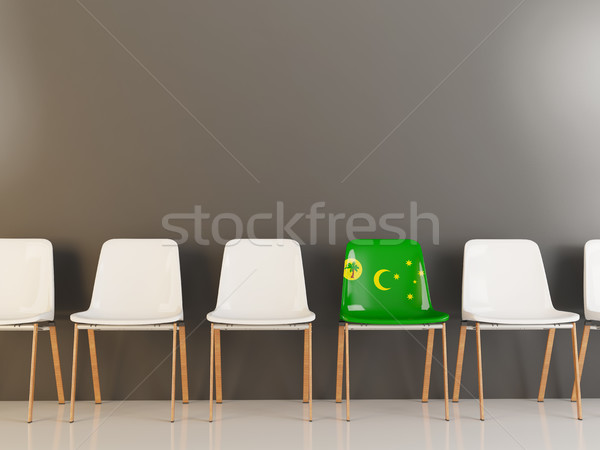 Chair with flag of cocos islands Stock photo © MikhailMishchenko