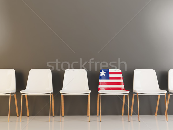 Chair with flag of liberia Stock photo © MikhailMishchenko