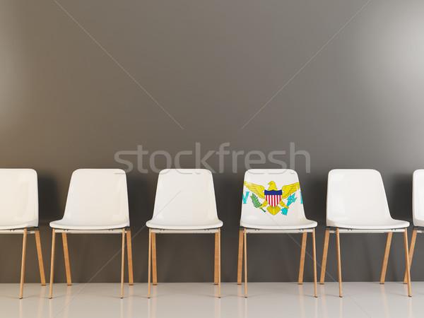 Chair with flag of virgin islands us Stock photo © MikhailMishchenko