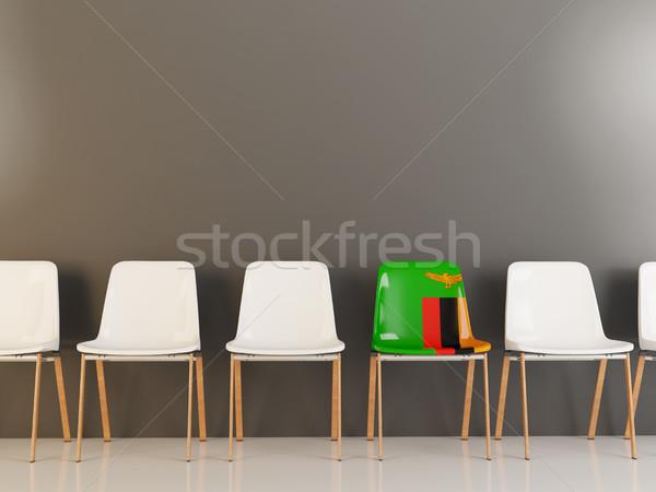 Председатель флаг Замбия белый стульев Сток-фото © MikhailMishchenko