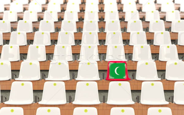 Stadium seat with flag of maldives Stock photo © MikhailMishchenko