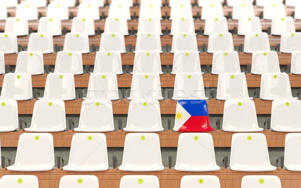 Stadium seat with flag of philippines Stock photo © MikhailMishchenko