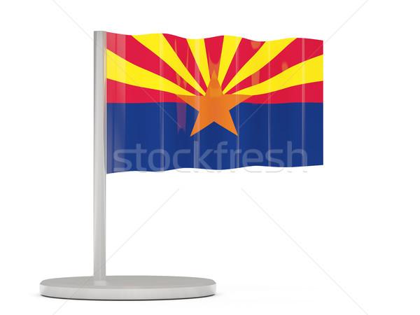 Stok fotoğraf: Bayrak · pin · Arizona · Amerika · Birleşik · Devletleri · yerel · bayraklar