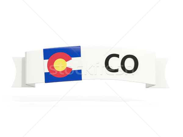 colorado state flag on banner with postal abbreviation isolated  Stock photo © MikhailMishchenko
